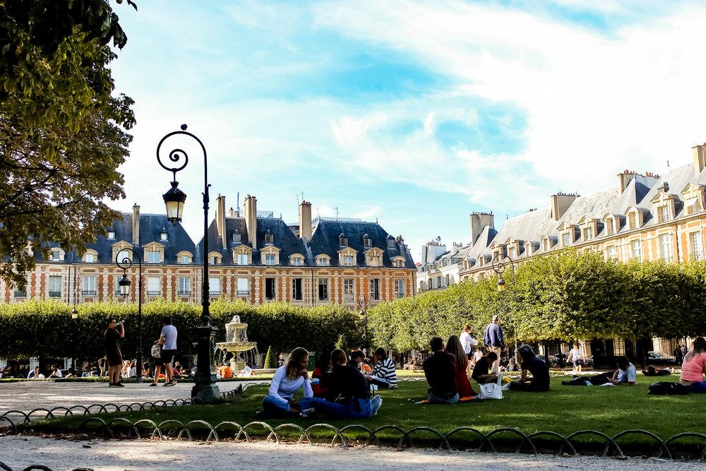 The courtyard outside Victor Hugo's House.