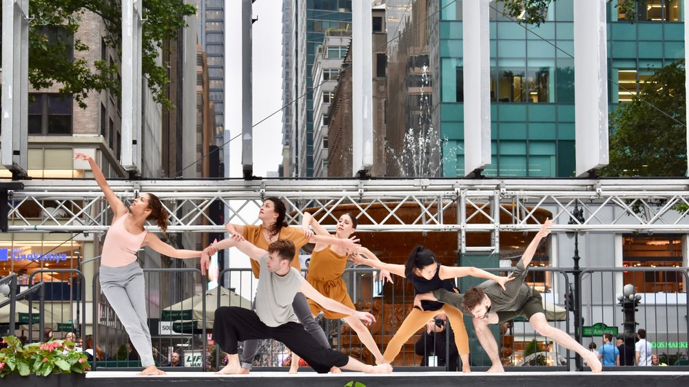 Bennyroyce Royon's  In Pursuit  at Bryant Park Presents 2017, curated by Donna Salgado. Photo by Justin Ren-Yi Chao.