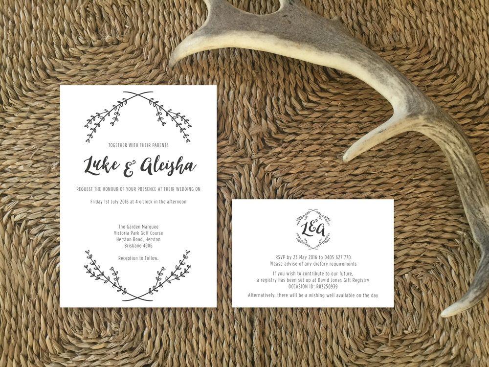 Classic Wedding Invite Breleigh