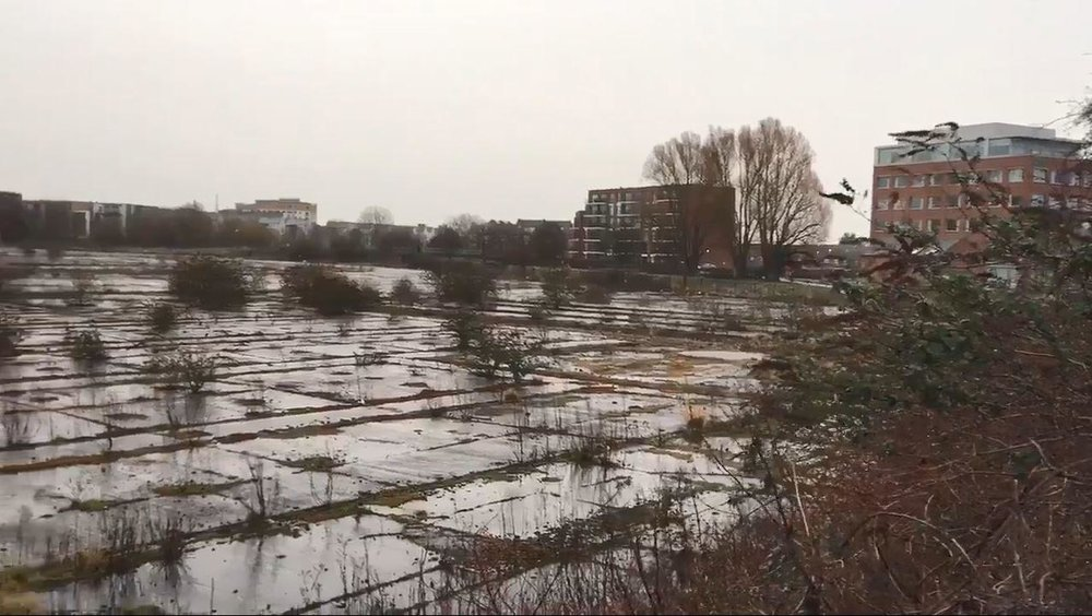 The derelict Firepool site