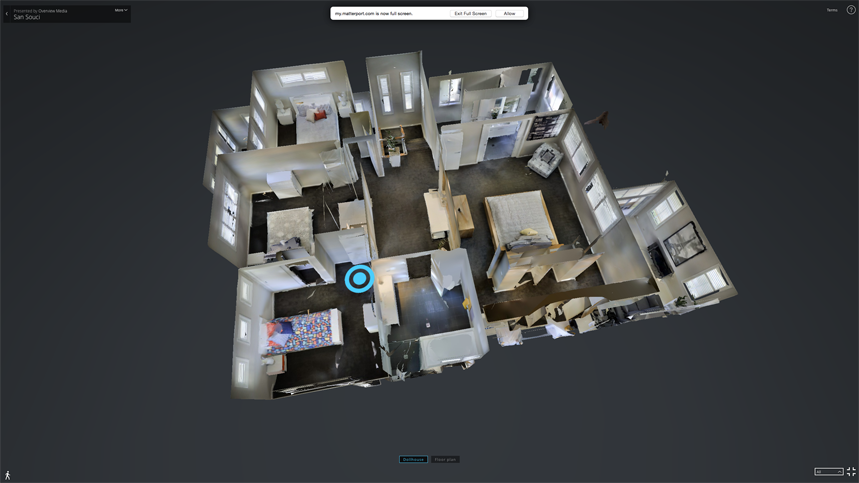 3D Dollhouse view