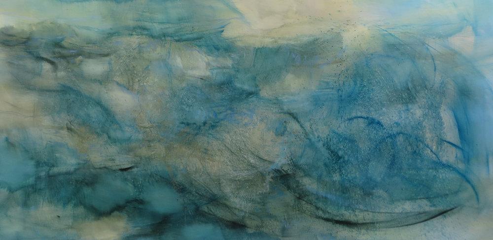As if on an Ocean - Oil on Canvas - 122 x 244 cm