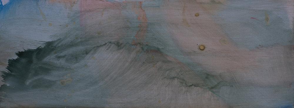 Little Epic Seascape 43 x 16 cm oil on panel