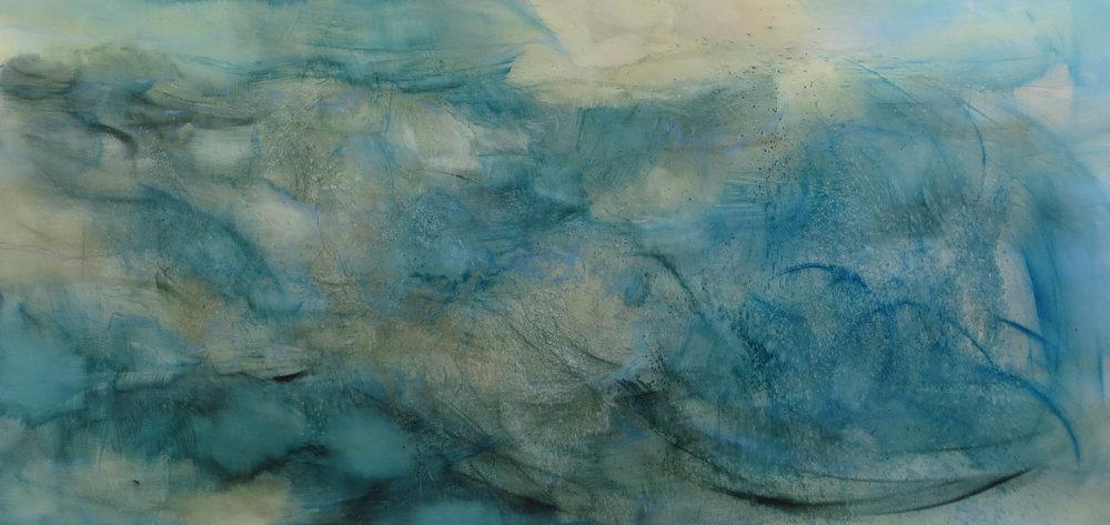 as if on an ocean Oil on Canvas 122 x 144 cm