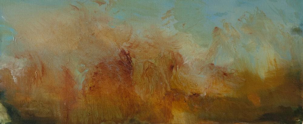 Before the Harvest 25 x 60 cm  oil on linen