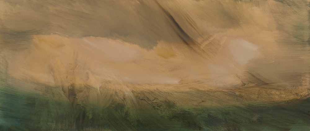 Little tempest  oil on panel   22 x 50 cm