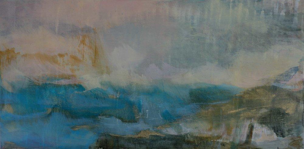 Daybreak oil on panel 30 x 60 cm