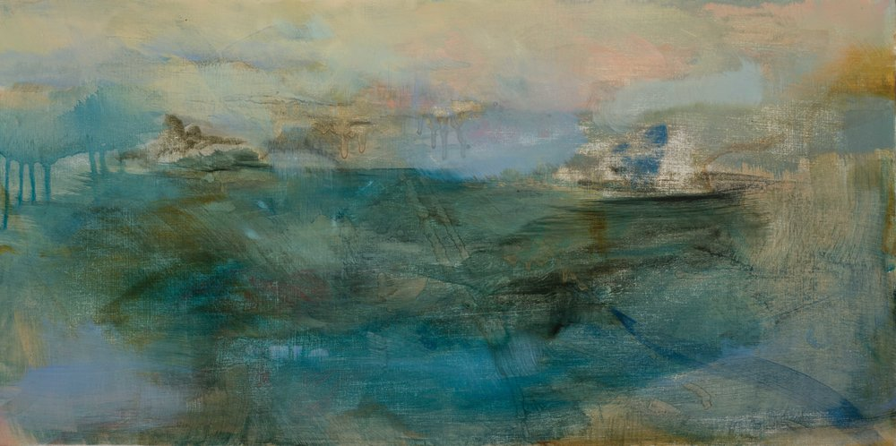 Faded Land Oil on panel 30 x 60 cm