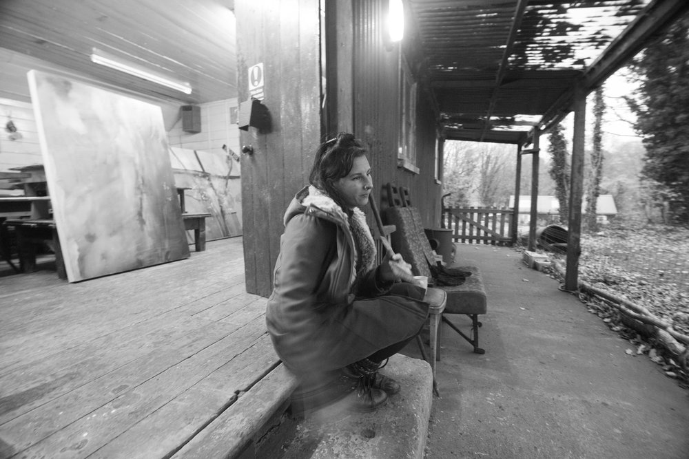 Katy on the threshold of the Old Cricket Pavilion-2-2.JPG