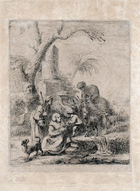 Dominique Vivant Denon, family group. The inscription reads 'Preso dal presepio de S. I Terres compost da Francesco Viva Napoli nel mese d'Aprile del anno 1785'. Naples, Museo Nazionale di San Martino.