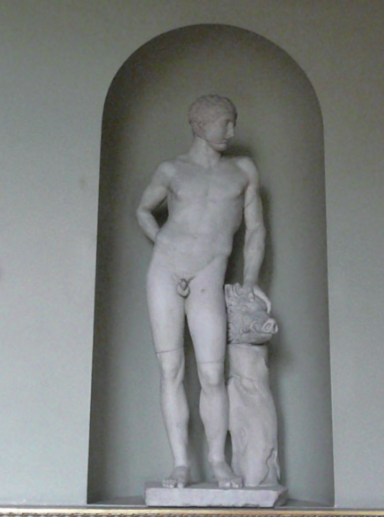 Figure 4. Second-century AD statue of 'Narcissus' restored as Meleager by Bartolomeo Cavaceppi (1716–1799). Holkham Hall. Image by Colin Shearer.