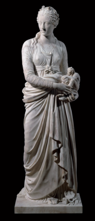 Figure 5. Marble figure of Anne Seymour Damer as the Muse of Sculpture. c. 1779. Height 181 cm. British Museum, M&ME OA 10540 ß Trustees of the British Museum