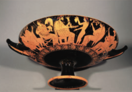 Figure 7. Red-figure Kylix showing Zeus and Ganymede, late sixth century BC. Tarquinia, National Museum.