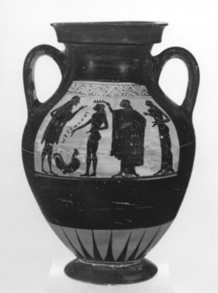 Figure 8. Black-figure amphora showing Zeus and Ganymede, c. 500 BC, from Nola.