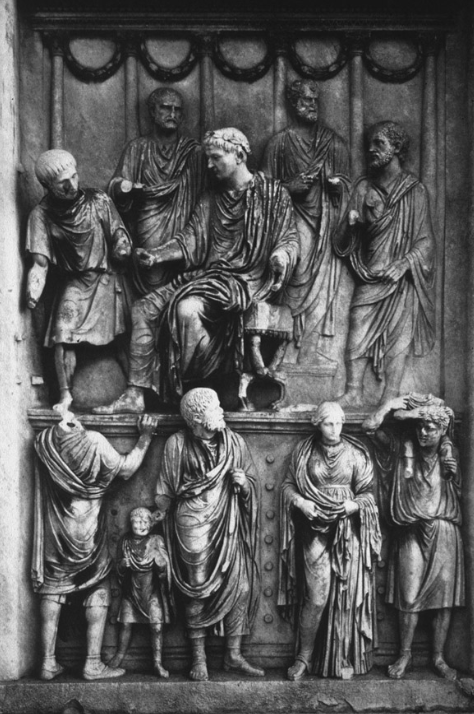 Fig. 9  Liberalitas  panel from the Arch of Constantine.