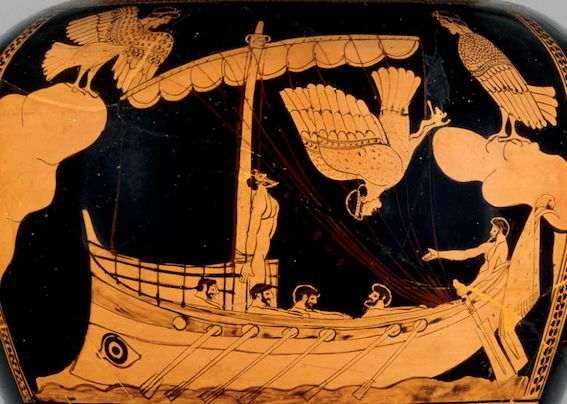 Figure 1. Red-figure stamens, Odysseus and the sirens. c. 480-470BCE. British Museum, London.