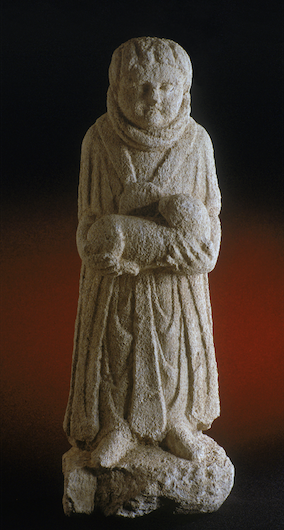Fig. 5: 'Pilgrim' statue from Dea Sequana sanctuary. Height 60 cm. Dijon Archaeological Museum. Image reproduced with the kind permission of the photographer, François Perrodin.