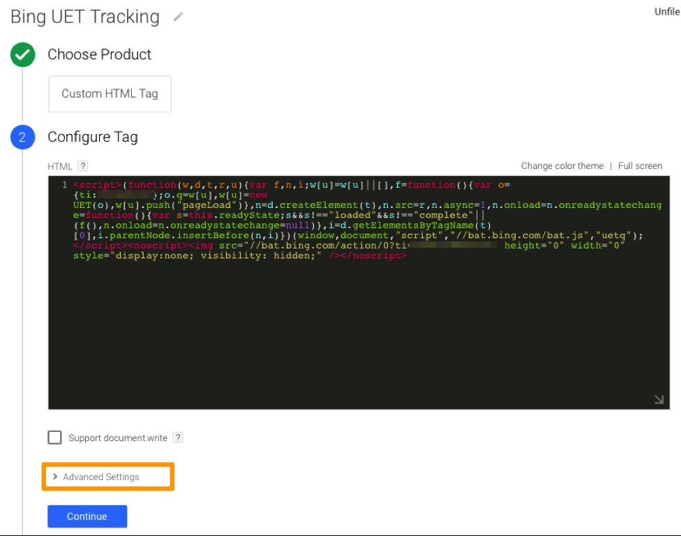 Bing UET Tracking