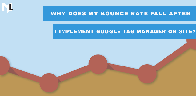 Why does my bounce rate fall after I implement Google Tag Manager on site?