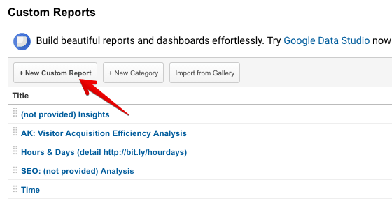 create custom report