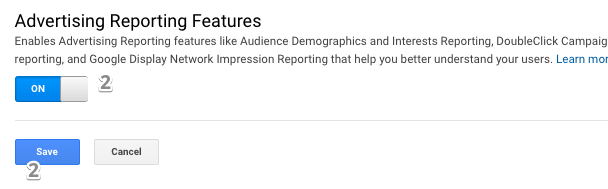 enable advertising reporting feature