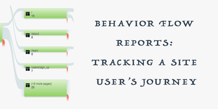 Behavior Flow Reports: Tracking a User's Site Journey
