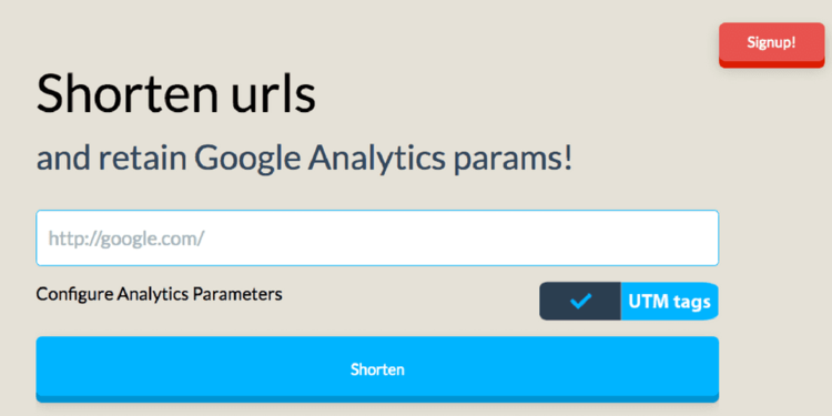 utm.io URL shortener with Google Analytics UTM tags