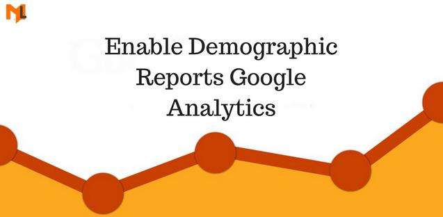 How to enable google analytics demographic reports?