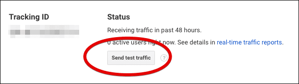 click send traffic button