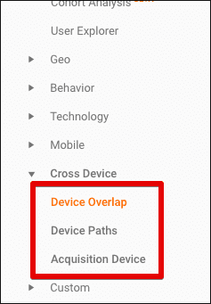 cross device reports