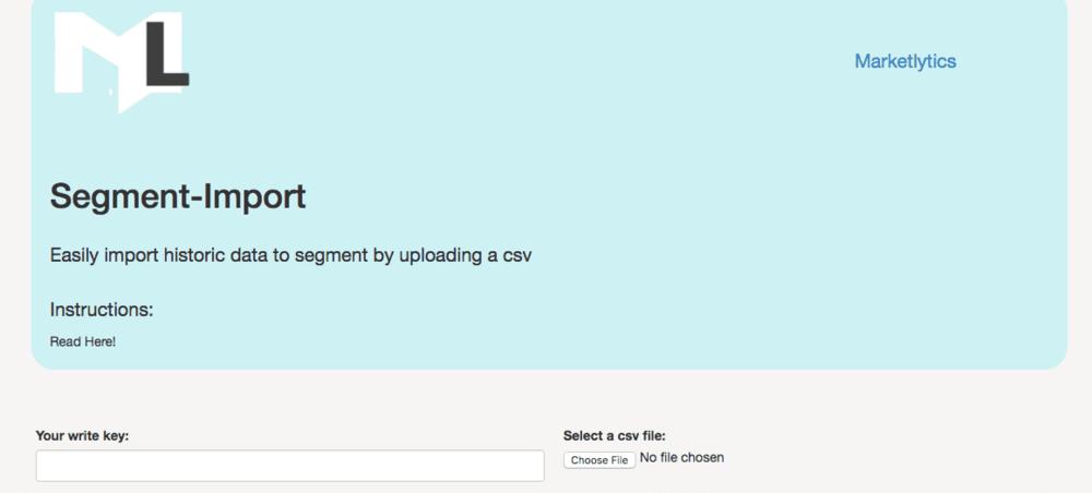 Segment CSV Importer view