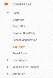 accessing goal flow reports