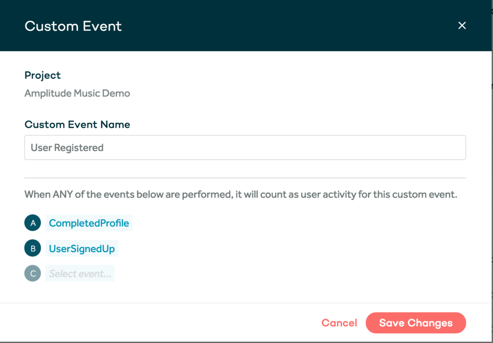 amplitude custom events