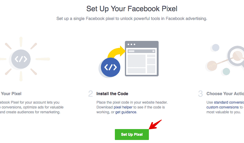 setup facebook pixel