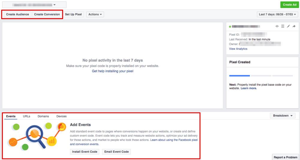 facebook pixel manager status