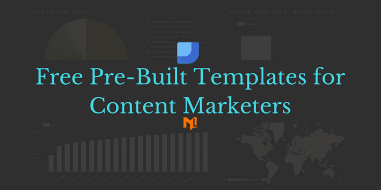 Free Google Data Studio Template for Content Marketers