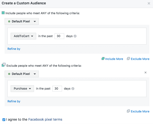 add to cart custom audience