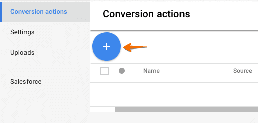 create a conversion in adwords