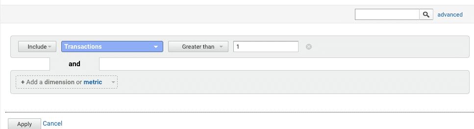 filter custom report