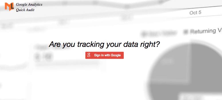 google analytics audit tool