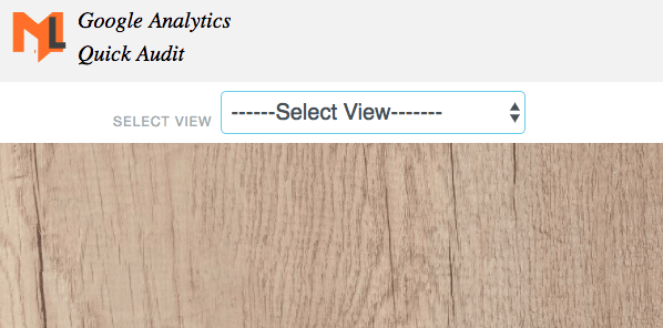 select analytics view