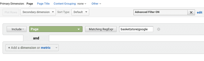 filter with regex