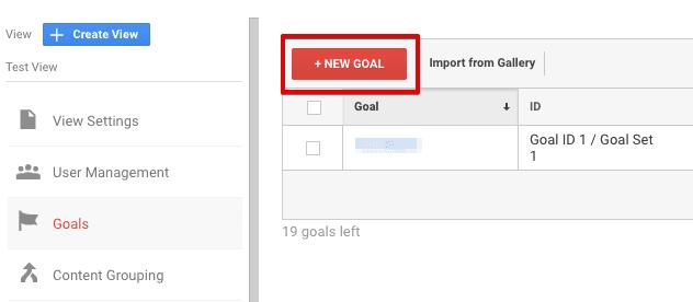 create a new goal