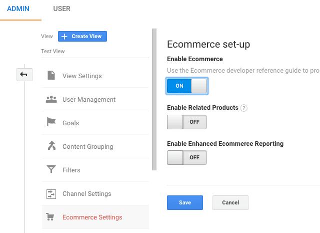 enable ecommerce tracking google analytics