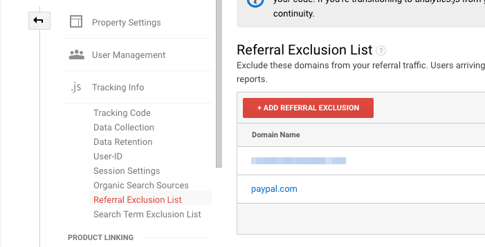 referral exclusion list google analytics