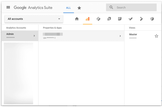 google analytics property