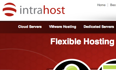 Screenshot of the new Intrahost website