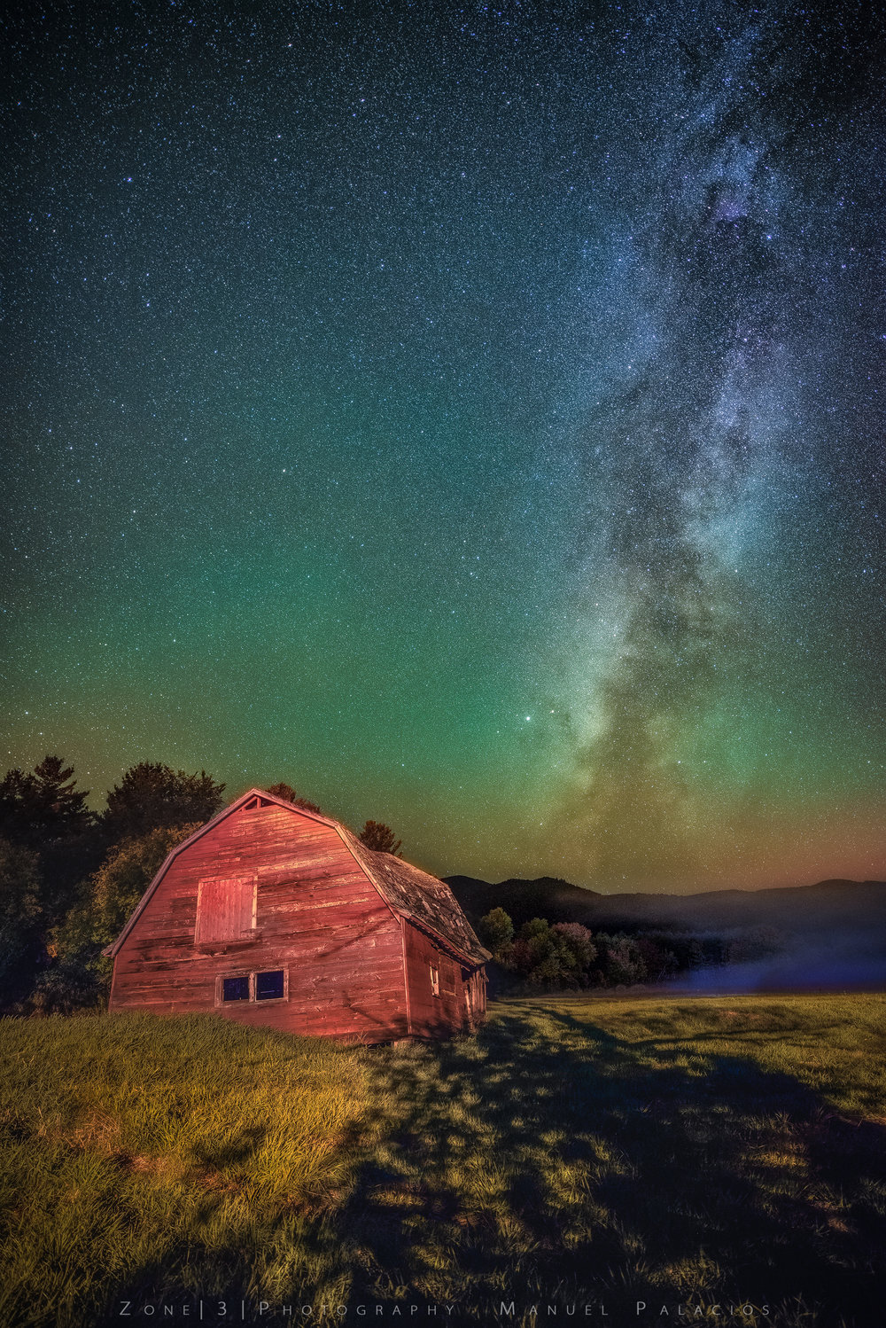 A Starry Night Over Keene Valley, New York.