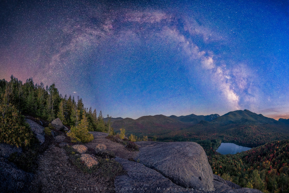 The Galactic Blue Hour at Mt Jo, New York.