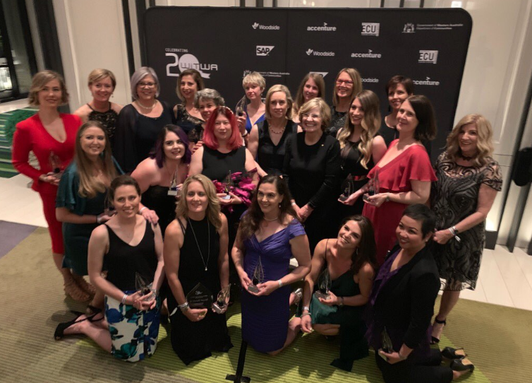 Our '22 in 20' - minus three winners who could not attend - with the Hon. Simone McGurk MLA, Professor Lyn Beazley AO and WiTWA chair Pia turcinov